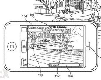 苹果新增强现实地图专利